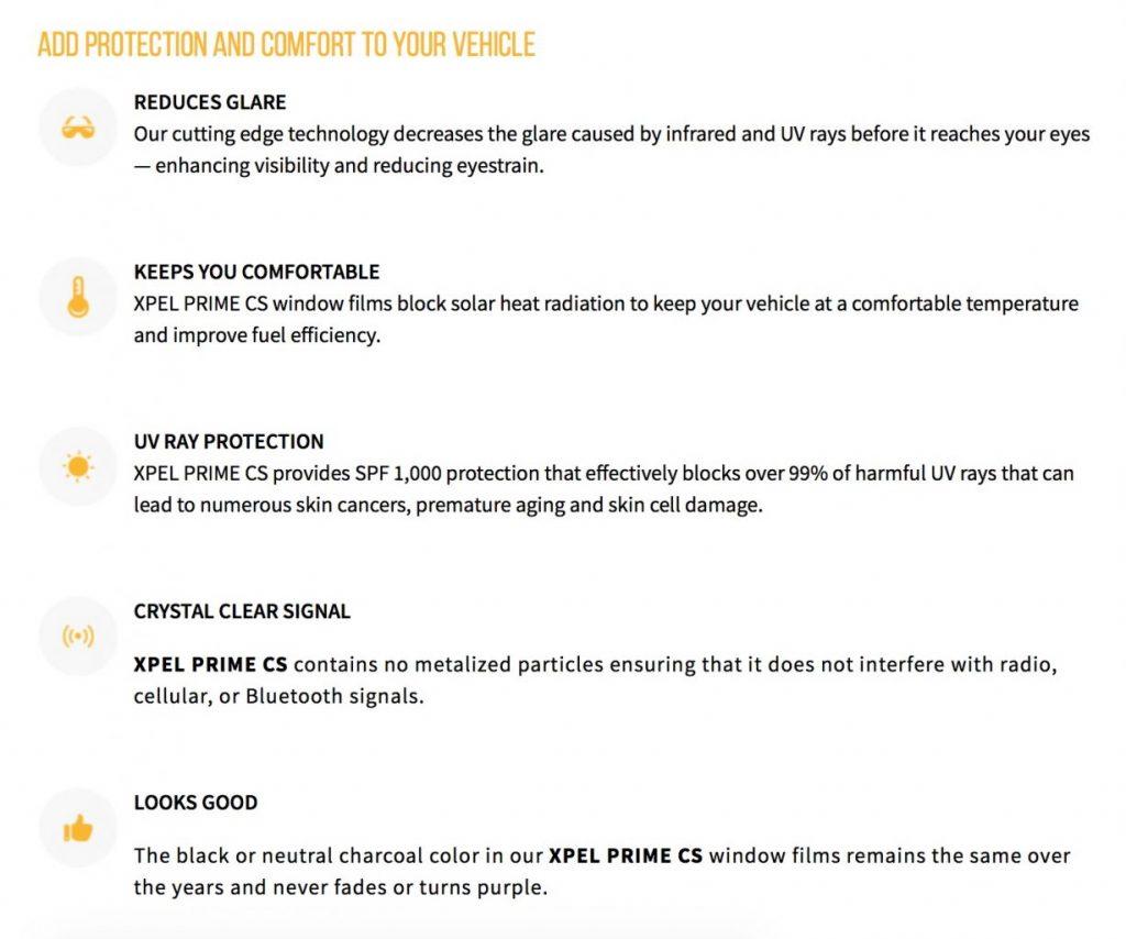 XPEL PRIME CS Window Tint - Great Looks - Great Price 2