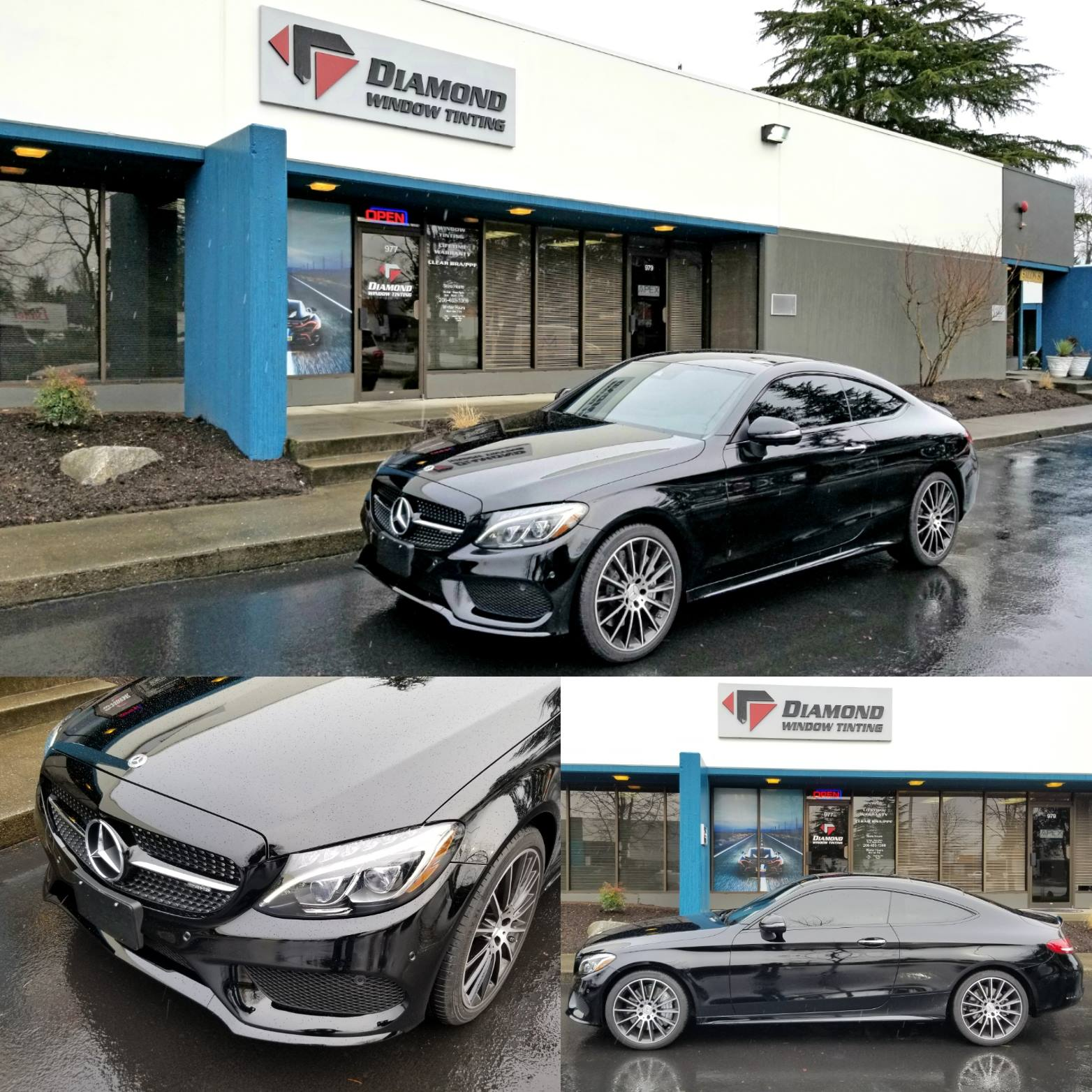 2018 mercedes benz c43 amg gets window tint and paint for Mercedes benz window tint